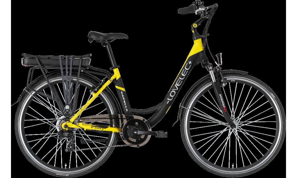 Miejski rower elektryczny LOVELEC Capella Black/Yellow