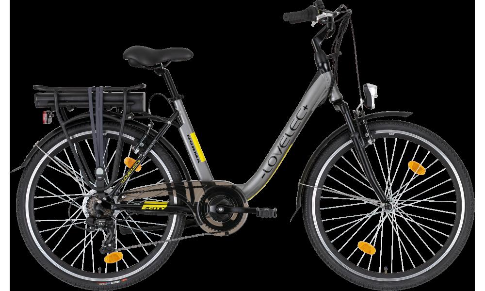 Miejski rower elektryczny LOVELEC Norma Grey/Yellow - POWYSTAWOWY
