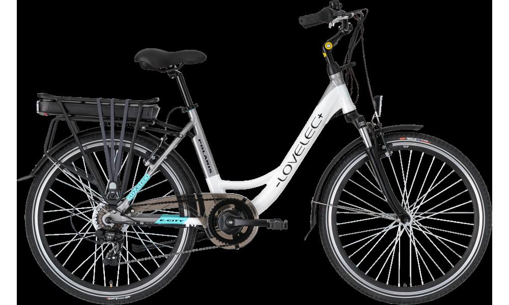 Miejski rower elektryczny LOVELEC Polaris White/Grey
