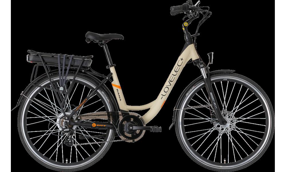 Miejski rower elektryczny LOVELEC Rana Beige/Black