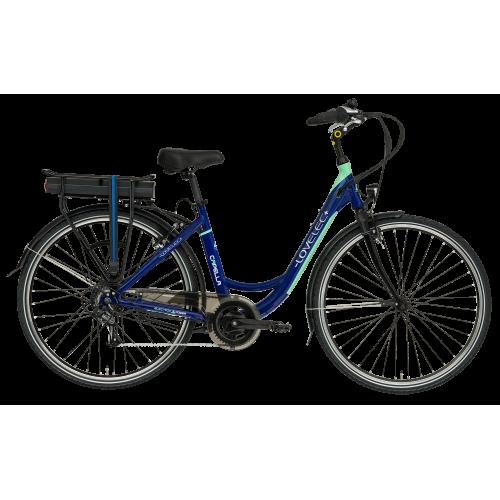 Miejski rower elektryczny LOVELEC Capella Blue/Mint