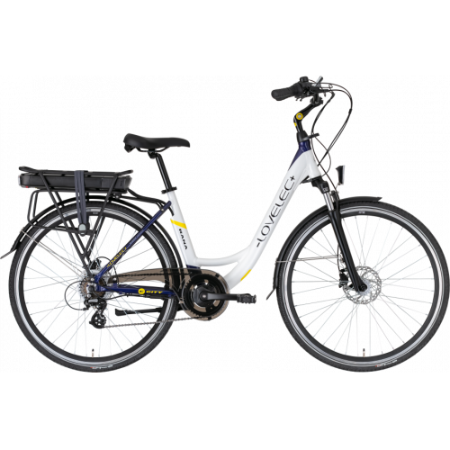 Miejski rower elektryczny LOVELEC Rana White/Blue