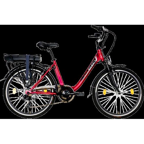 Miejski rower elektryczny LOVELEC Norma Red