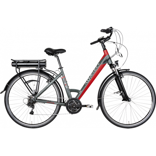 Miejski rower elektryczny LOVELEC Maia Black/Red !!OSTATNIA SZTUKA!!