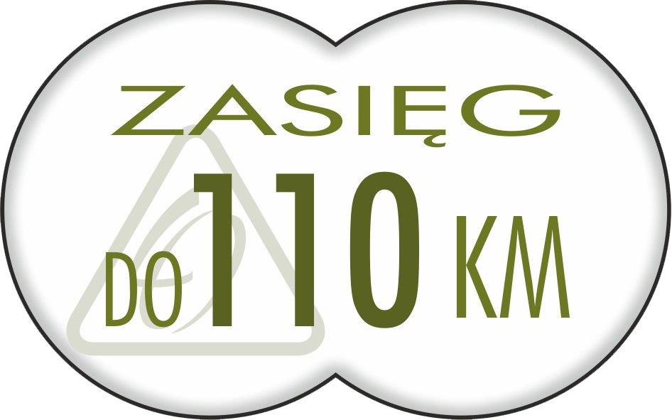 do 110 km (z akumulatorem 13 Ah)